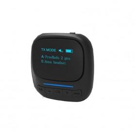 DrPhone StreamX PRO Bluetooth 5.0-zenderontvanger – APXT- OLED scherm– AUX 3,5mm – Zwart