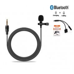 DrPhone - PX3® Lavalier Microfoon met Clip + Bluetooth 2 in 1 Splitter 3.5mm Jack - Voor Apple iPhone / iPad met Apple Lightning
