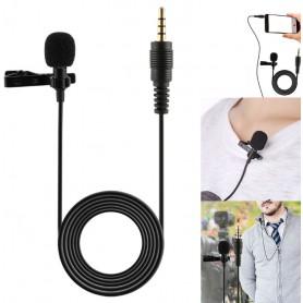 DrPhone - PX1® Premium Lavalier High End Microfoon met Clip voor Smartphone / Universeel IOS / Android / Windows