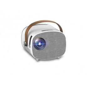 DrPhone PIX2 Basic Mini Projector voor kinderen – Beamer met Ingebouwde Batterij 7.4V/1600mAh – 1080P – 1400 Lumen