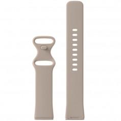 DrPhone FVS TPU Siliconen Polsband – Armband – Sportband Geschikt voor Fitbit Versa 3 / Fitbit Sense – Maat L – Sand Roze