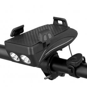 DrPhone BHL1 - 4 In 1- Telefoonhouder - Powerbank - Hoorn - Fiets Licht - 4000 MAH