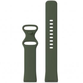 DrPhone FVS TPU Siliconen Polsband – Armband – Sportband Geschikt voor Fitbit Versa 3 / Fitbit Sense – Maat S – Zwart