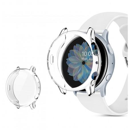 DrPhone TPU Bumper Case – Beschermhoes - Volledige bescherming - Geschikt voor Samsung Galaxy Watch Active 2 40mm - Transparant