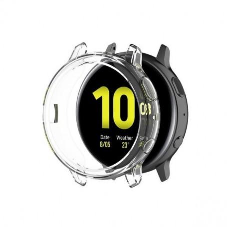 DrPhone SWC2 TPU Case – Siliconen Bumper hoesje - Geschikt voor de Samsung Galaxy Active 2 R820 44 mm – Transparant