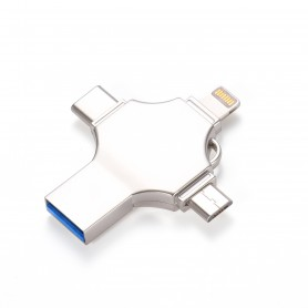 DrPhone 3-Drive – 512GB - USB Opslag- Externe Geheugen voor smartphones – tablets - Lighting - Android – USB-C – USB. 3.0