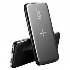 DrPhone PBX PRO Powerbank – Externe Batterij – 2x USB 2.0 – Draadloos opladen - 10000 mAh – Zwart