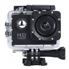 DrPhone Action Cam – 1080P – Full HD – Waterdicht - 140° Groothoeklens - Zwart