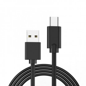 DrPhone AD1 0.8M Type C naar USB3.0 2.4A Kabel Met Data overdracht - Overdrachtssnelheid tot 6 Gbps - Zwart