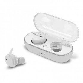 DrPhone TWS Earphones – Wireless Earphones – Bluetooth 5.0- Waterdicht – Ruisonderdrukking - One-Touch Control – Wit