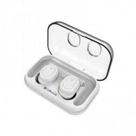 DrPhone WSH1 – Draadloze Stereo Oordoppen – V5.0 – Waterdicht – Touch Control – Wit