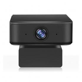 DrPhone WC5 USB Webcam 2MP - 360 Ai intelligente opnamen - Automatisch Volgen -1080P Full HD Met Microfoon - Zwart