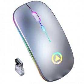 DrPhone DML Draadloze Muis 2.4Ghz met 7 Kleuren verlichting- Stille muis – Oplaadbaar