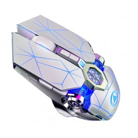 DrPhone DML3 Draadloze USB 2.4Ghz Gaming Muis met 7 Kleuren verlichting- Stille Optische Ergonomische muis – 1600 DPI - Zwart