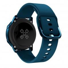 DrPhone Samsung Galaxy Gear Active 2 Horlogeband – Siliconen band – Metalen gesp – Unisex – Marine Blauw
