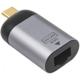DrPhone UCE1 Thunderbolt 3 / Type-C naar Ethernet Adapter – USB C naar RJ45 Gigabit 1000 /100 /10 Mbps Ethernet Adapter