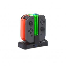 DrPhone CDP – Draadloze oplader – Met led licht – Geschikt voor Nintendo Switch controllers – Opladen met USB – Zwart
