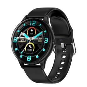 DrPhone M20 Spectra - Smartwatch voor Mannen en Vrouwen - Thermostaat - Hartslag - Lange Batterij - Zwart