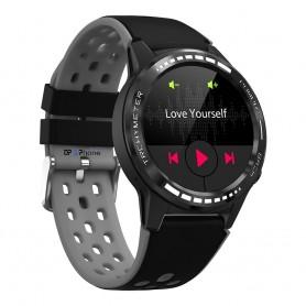 DrPhone GP2 - Smartwatch voor Mannen - GPS Outdoor Horloge - Bellen / Hartslag / GPS / Kompas / Barometer / Sport - Zwart