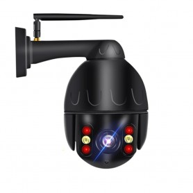 DrPhone PTZ-360 - IP Camera met Kleuren Nachtvisie met Sony CMOS - CCTV - H.265 - ONVIF - 8MP - Full HD / 4K – Zwart
