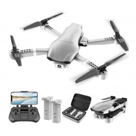 LUXWALLET Nocchi 4D - 30 KM/h - 230 Gram - 2.4Ghz WiFI GPS Drone (300meter) - 4K Camera - Live Video + 2 Accu + Opbergcase