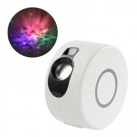 DrPhone ASP1 – Sterrenhemel Projector - 8 Verlichtingsmodi – 360° Draaibaar – Afstandsbediening - Wit