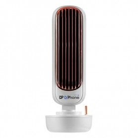DrPhone CLU3 – Bevochtigende Ventilator Toren – Drie Snelheden – Sproeifunctie – 60 Windgeleidingsbladen – Ruimtebesparend - Wit