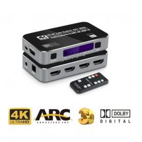 DrPhone Arc Series 4K HDMI HDR Switch 4-in-1 uit – HDR10 – 2.0 HDCP – 4K 60Hz – Afstandsbediening – SPDIF - 3D - PC / TV