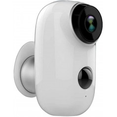 DrPhone SC1 – Security Camera – Draadloos – HD Camera - 130° Kijkhoek – Waterdicht – Bewegingsdetectie – Nachtzicht – Wit
