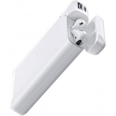 DrPhone AP3® - Wireless Airpods / iPod en iPhone Lader - 10000 mAh Power Pack - 2.4A Lader - USB Oplader - Wit