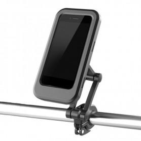 DrPhone FTH1 – Fiets Telefoon Houder – Ingebouwde Magneet – Waterdicht – 360 Graden Draaibaar – Eenvoudig Te Monteren - Zwart