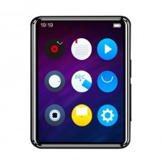 DrPhone MX3 Bluetooth 5.0 MP3-speler- Volledig touchscreen 2.5inch- 16GB met ingebouwde luidspreker - Zwart