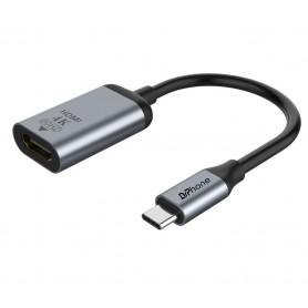 DrPhone HDC2 - USB-C Naar HDMI 2.0 Female Kabel 4K 60Hz - Type-C Adapter Thunderbolt 3 Compatibel