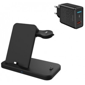 DrPhone SG1 – 15W – 4 In 1 Draadloze Oplader – Dock – voor Samsung Gear & Samsung Watch Active / 45mm / 41mm / 42mm / 46mm