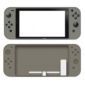 DrPhone Nintendo Switch Siliconen Case – Anti-Slip – Slim Design - Grijs