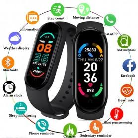 DrPhone K8 Horloge - Kids Smartwatch - Bluetooth - Hartslagmeter - Notificaties - Stappenteller voor IOS / Android - Zwart