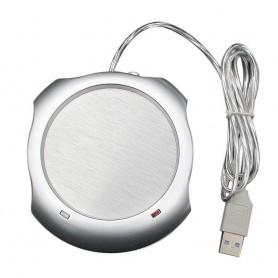 DrPhone HeatPro2 - USB Kopjes/Kop/Beker Verwarmer– Aan/Uit schakel systeem - 45-50 °C Zilver