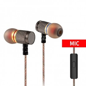 DrPhone KZ3 Oortelefoon 3.5mm Aux – Oortjes – Oordopjes- In-Ear Hifi Stereo Super Bass Headset – Ruisonderdrukking - Microfoon