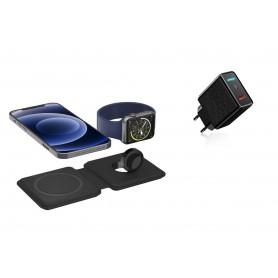 DrPhone iOM2 - 15W Opvouwbare Lader - Qi Magnetische Snelle Draadloze Oplader - Geschikt voor Magsafe - iPhone / Apple Watch