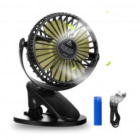 DrPhone CoolWind - Draagbare Ventilator met Clip - 3 Standen - Kantoor - Kinderwagen - In Huis - Kabel of Batterij - Wit