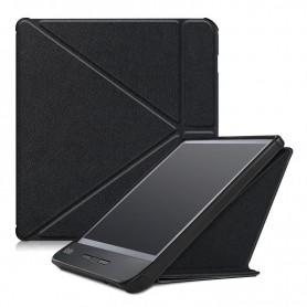 DrPhone KLC Multi TriFold Smart Case - PU Lederen Flipcover – Geschikt voor Kobo Libra H2O – Zwart