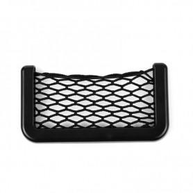 DrPhone SB1 – Opbergtas Voor Auto – Net - Stevig – Nylon Gaas – Moeilijk Eraf Te Krijgen – 8cm X 20cm - Zwart
