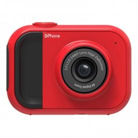 DrPhone DKC Digitale Kindercamera - 1080P - 24 Megapixel -2 Inch Scherm - 4x zoom inclusief 32 GB Geheugenkaart – Rood