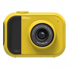 DrPhone DKC Digitale Kindercamera - 1080P - 24 Megapixel -2 Inch Scherm - 4x zoom inclusief 32 GB Geheugenkaart – Geel