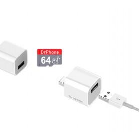 DrPhone Cube + 64GB Micro SD - Automatische Backup Bestanden - Geschikt voor iPhone / iPad + App - voor Foto's / Video's