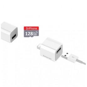 DrPhone Cube + 128GB Micro SD - Automatische Backup Bestanden - Geschikt voor iPhone / iPad + App - voor Foto's / Video's