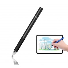 DrPhone - SX Pro V6 Stylus Pen met Side Grip - Precision Disc Capacitief - Zwart