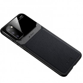 DrPhone SGC3 PU Lederen Case - Ultradun – Schokbestendig met Camera Bescherming - Geschikt voor Samsung Galaxy S20