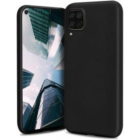 DrPhone SH Siliconen Hoesje - Zacht Hoesje - Geschikt voor Huwawei p40 Lite - Zwart