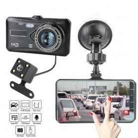 DrPhone DC7 Auto Dashcam Voor en Achter - 1080P - Loop Opname - G-sensor - 170 ° Groothoek – Nachtzicht (WDR) en meer